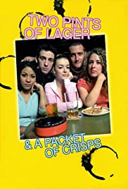 Two Pints of Lager and a Packet of Crisps poster